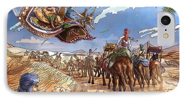 The Caravan In The Sahara IPhone Case by Reynold Jay