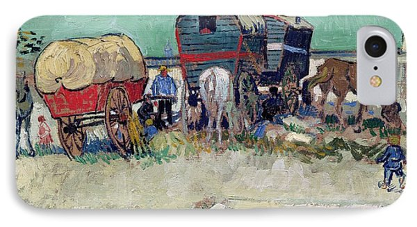 The Caravans   Gypsy Encampment Near Arles Phone Case by Vincent Van Gogh
