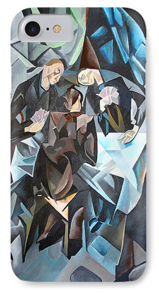 The Card Players Phone Case by Tracey Harrington-Simpson