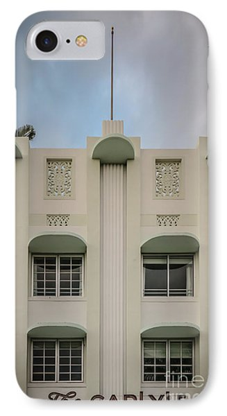 The Carlyle Art Deco Detail South Beach Miami - Hdr Style IPhone Case