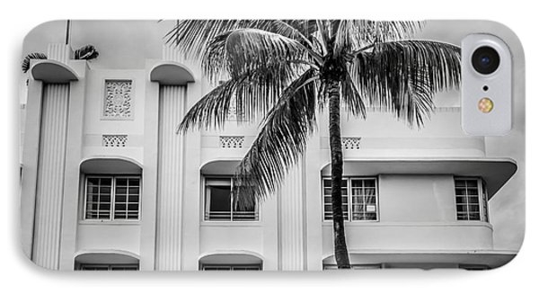 The Carlyle South Beach Miami - Art Deco District - Black And White IPhone Case