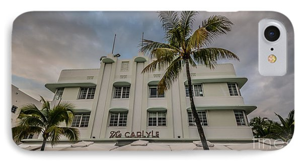 The Carlyle South Beach Miami Panoramic - Art Deco District - Hdr Style IPhone Case