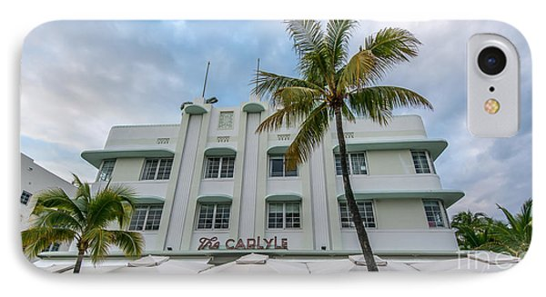 The Carlyle South Beach Miami Panoramic - Art Deco District  IPhone Case