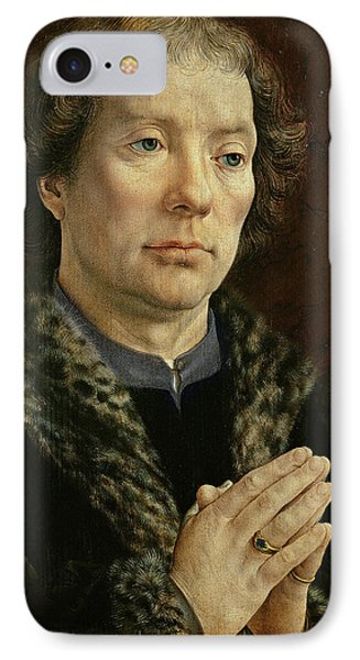 The Carondelet Diptych Left Hand Panel Depicting Jean Carondelet 1469-1545 Dean Of Besancon Church IPhone Case