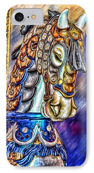 IPhone Case featuring the painting The Carousel Horse by Mary Almond