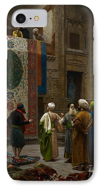 The Carpet Merchant IPhone Case by Jean Leon Gerome