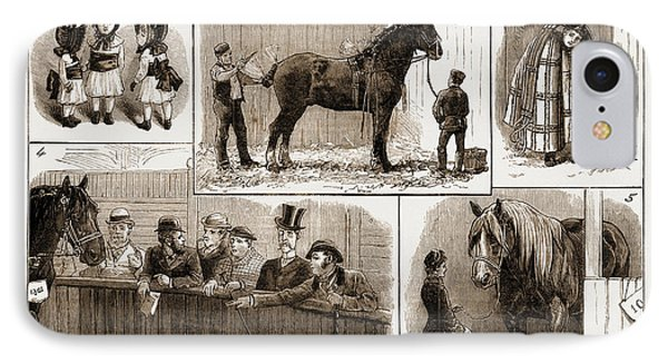The Cart-horse Show At The Agricultural Hall IPhone Case by Litz Collection