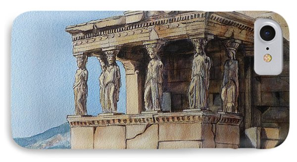 The Caryatid Porch Of The Erechtheion IPhone Case by Henrieta Maneva