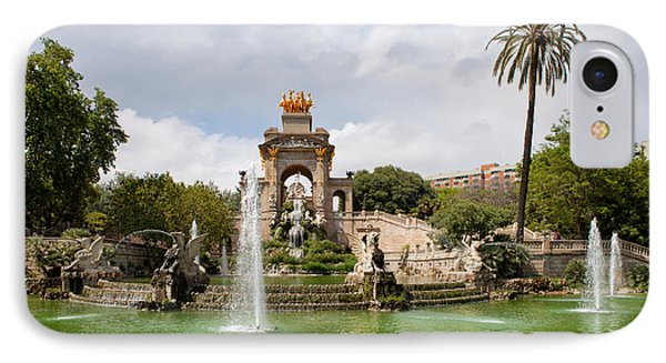 The Cascada In Ciutadella Park In Barcelona IPhone Case by Artur Bogacki
