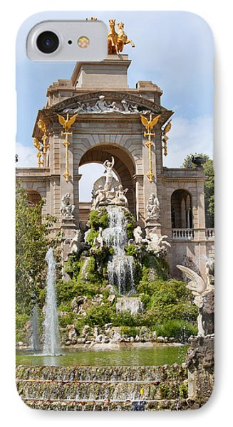 The Cascada In Parc De La Ciutadella In Barcelona IPhone Case by Artur Bogacki