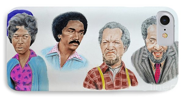 The Cast Of Sanford And Son  IPhone Case by Jim Fitzpatrick