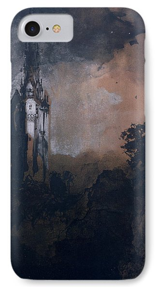 The Castle In The Moonlight  IPhone Case by Victor Hugo