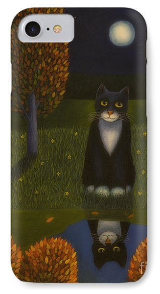 The Cat And The Moon IPhone Case by Veikko Suikkanen