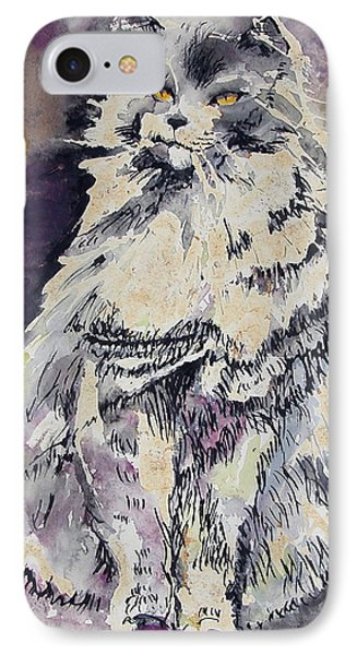 The Cat IPhone Case by Synnove Pettersen