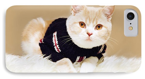 The Cat Wears Sweater IPhone Case by Aiolos Greek Collections