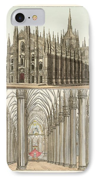 The Cathedral Of Milan Phone Case by Splendid Art Prints