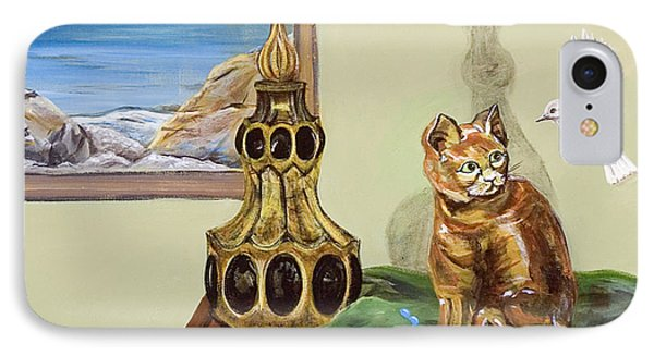 IPhone Case featuring the painting The Cat's Meow by Susan Culver