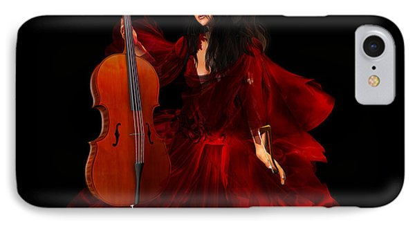 The Cellist IPhone Case by Kylie Sabra