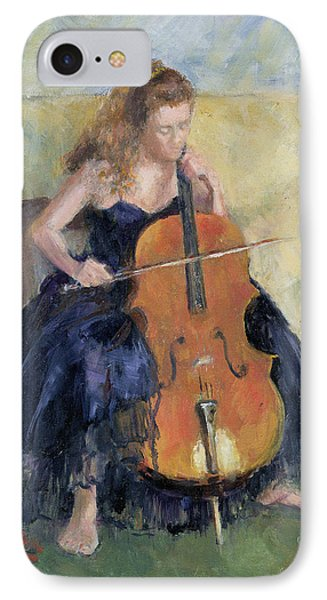 The Cello Player, 1995 IPhone Case by Karen Armitage