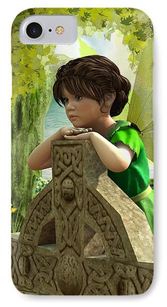 IPhone Case featuring the digital art The Celtic Fairy by Jayne Wilson