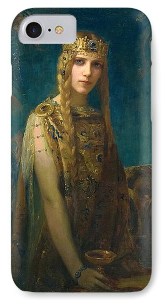 The Celtic Princess IPhone Case by Gaston Bussiere