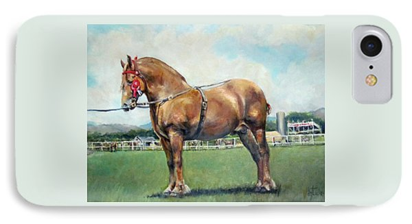IPhone Case featuring the painting The Champ by Donna Tucker