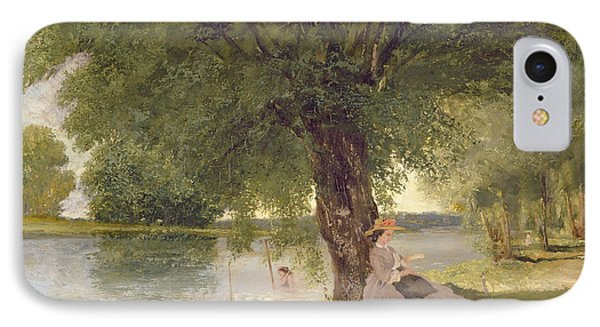 The Charente At Port Bertaud IPhone Case by Gustave Courbet