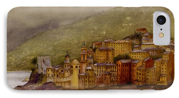 IPhone Case featuring the painting The Charming Town Of Camogli Italy by Nan Wright