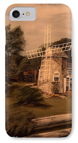 The Chatham Windmill Cape Cod Ma IPhone Case by Diane Strain