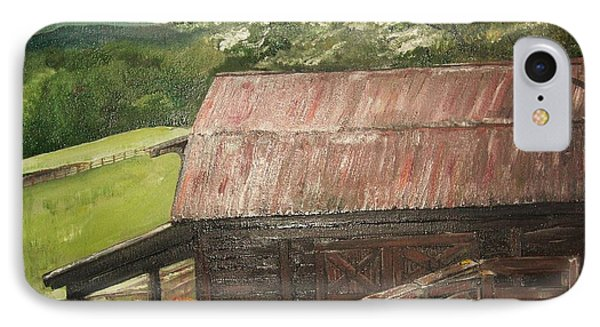 IPhone Case featuring the painting The Cherrys Barn by Jan Dappen