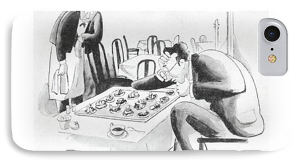 The Chess Player And The French Pastry IPhone Case by I. Klein