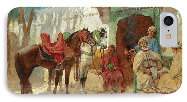 The Chess Players IPhone Case by Frederick Arthur Bridgman