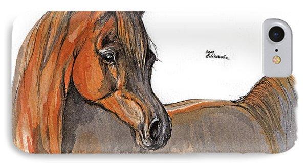 The Chestnut Arabian Horse 2a Phone Case by Angel  Tarantella