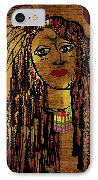 The Cheyenne Indian Warrior Brave Wolf Pop Art Phone Case by Pepita Selles
