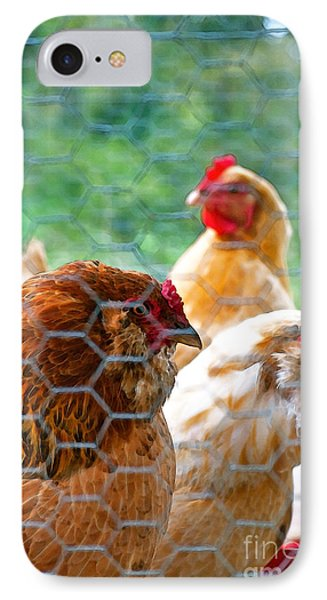 The Chickens Phone Case by Gwyn Newcombe