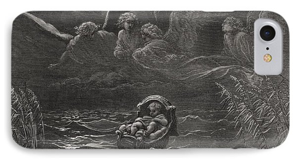 The Child Moses On The Nile Phone Case by Gustave Dore