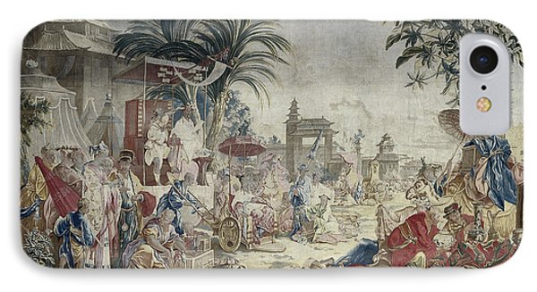 The Chinese Market, Manufacture Royale De Beauvais IPhone Case by Quint Lox