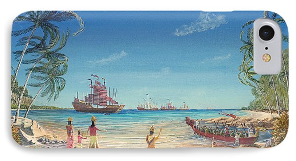 The Chinese Treasure Fleet Arrives IPhone Case