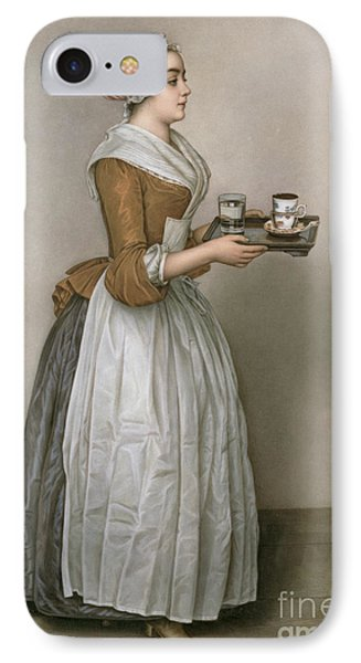 The Chocolate Girl IPhone Case by Jean-Etienne Liotard