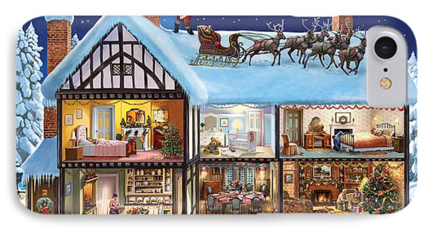 Christmas House IPhone Case by Steve Crisp