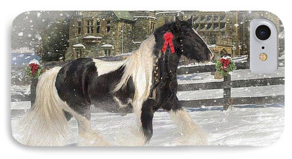 The Christmas Pony Phone Case by Fran J Scott