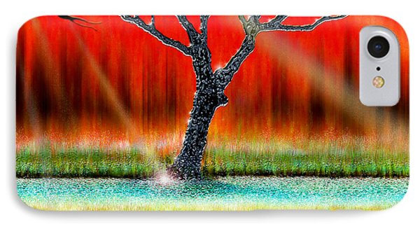 The Chrome Tree IPhone Case by Cristophers Dream Artistry