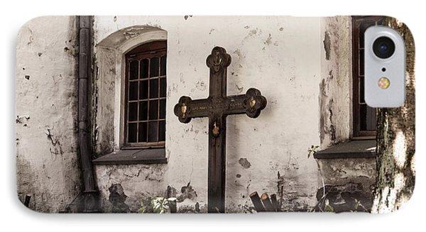The Church Courtyard IPhone Case by Bill Howard