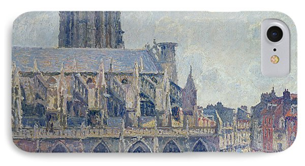 The Church Of St Jacques In Dieppe Phone Case by Camille Pissarro