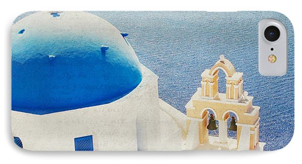 IPhone Case featuring the photograph The Church - Santorini by Lisa Parrish