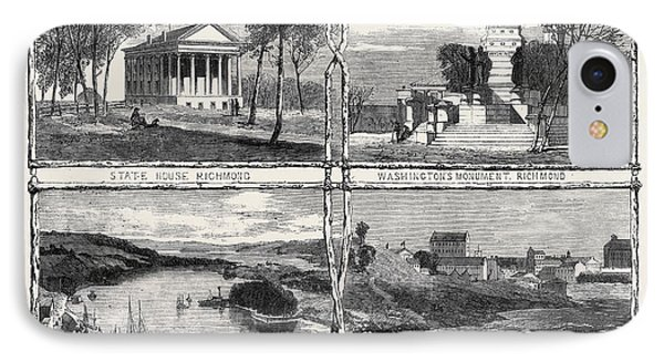 The Civil War In America Sketches From Richmond Virginia IPhone Case by English School