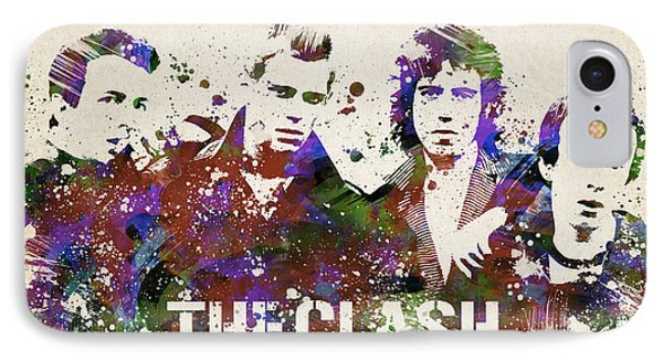 The Clash Portrait IPhone Case by Aged Pixel