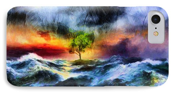 The Clearing Of The Flood IPhone Case by Georgiana Romanovna