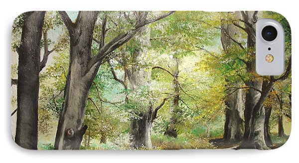 IPhone Case featuring the painting The Clearing by Sorin Apostolescu
