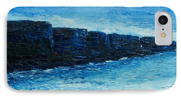 IPhone Case featuring the painting The Cliffs by Conor Murphy